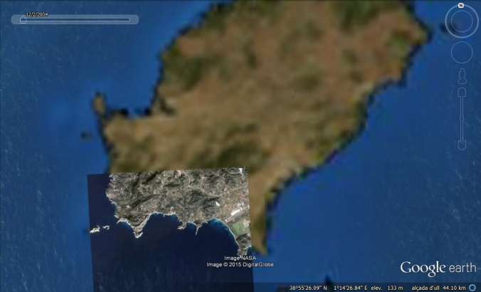 Eivissa Google Earth 2004