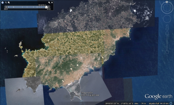 Google Earth Eivissa 2012